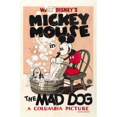 - Mickey Mouse Mad Dog Movie Poster New 12x18