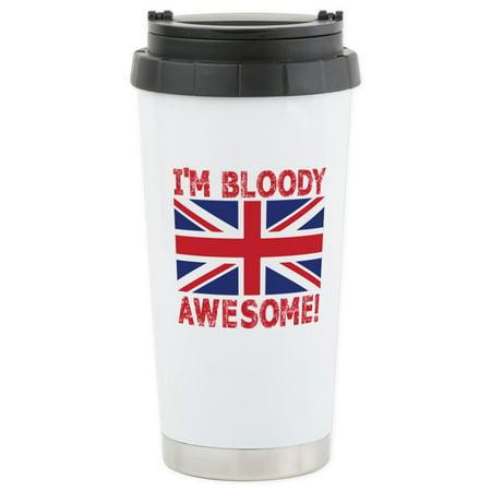 - CafePress - I'm Bloody Awesome! Union Jack Flag Travel Mug - Stainless Steel Travel Mug, Insulated 16 oz. Coffee Tumbler