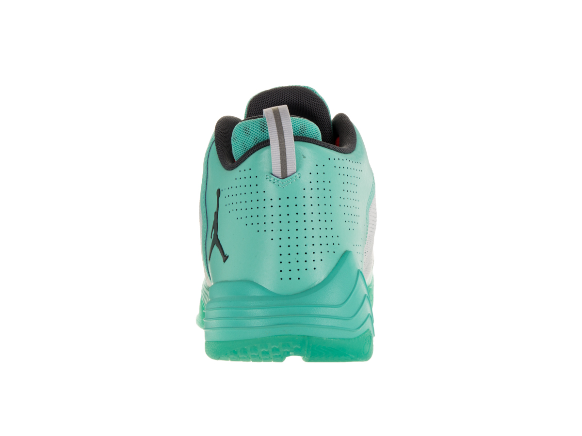 Nike Men's Jordan Cp3.Ix Ae Pure Platinum / Dark Grey-Hyper Turquoise-Inferno Ankle-High Fabric Basketball Shoe - 11M