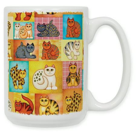 15 Ounce Ceramic Coffee Mug - Cat (Collage Coffee)