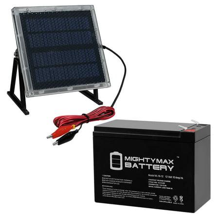 12V 10AH SLA Replacement for PowerWare PWHR1234W2FR 12V Solar Panel