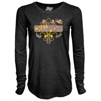 LSU Tigers Blue 84 Women's College Football Playoff 2019 National Champions Tri-Blend Long Sleeve T-Shirt - Heather