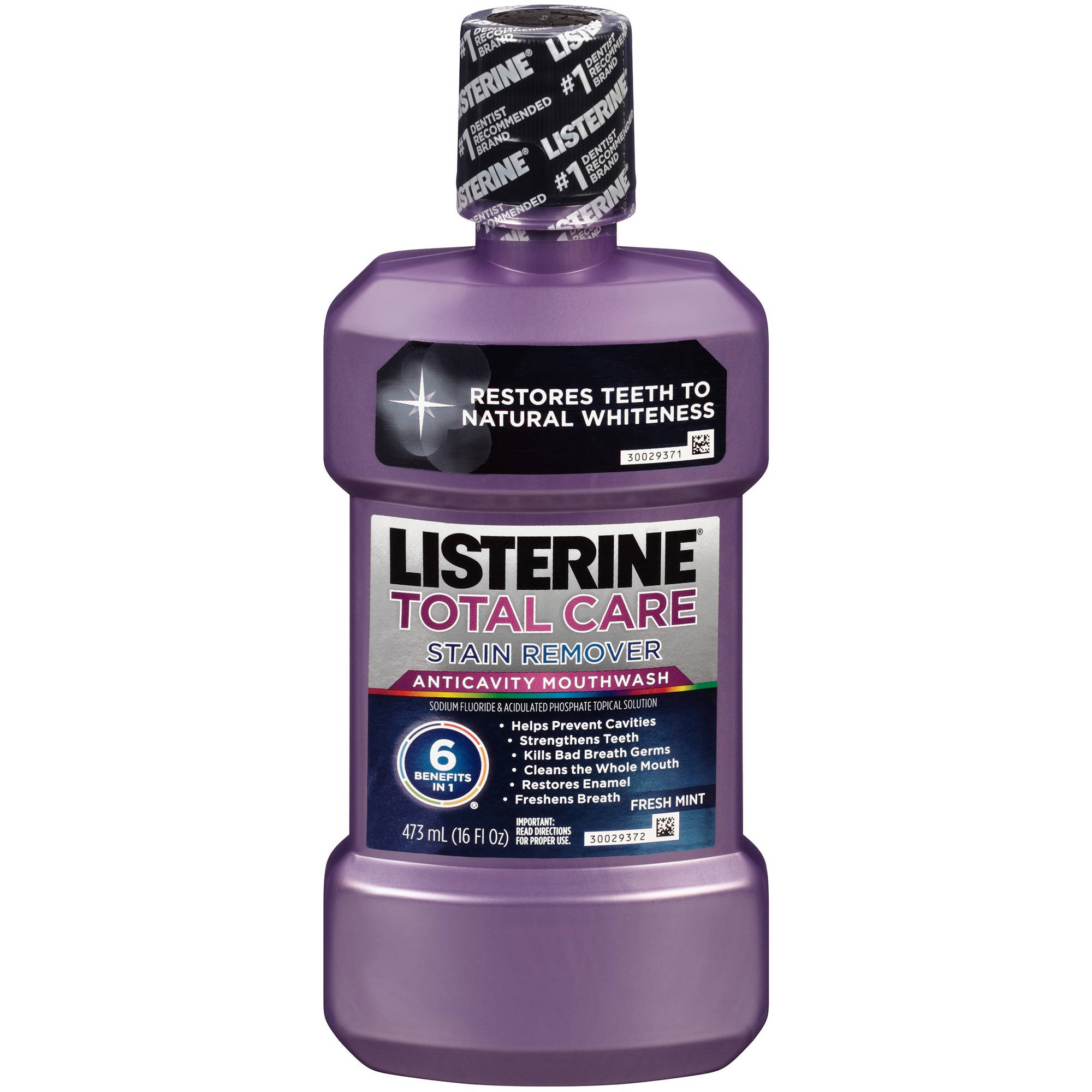 Listerine Total Care Plus Whitening Fresh Mint Anticavity Mouthwash, 16 fl oz