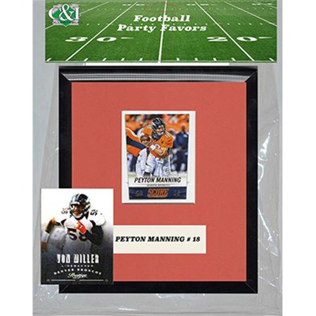 Candlcollectables 67LBBRONCOS NFL Denver Broncos Party Favor With 6 x 7 Mat and Frame for $<!---->