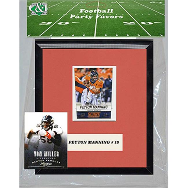 Candlcollectables 67LBBRONCOS NFL Denver Broncos Party Favor With 6 x 7 Mat and Frame
