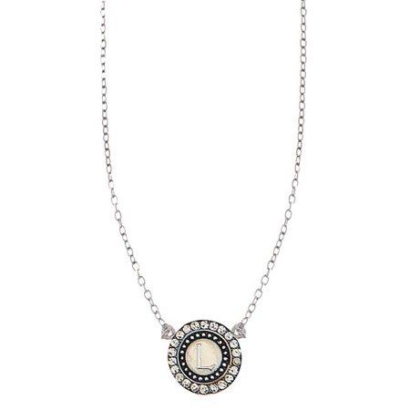 Bottled L Initial Necklace by Ganz (Bottle Necklaces)