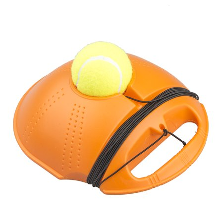 Tennis Balls Training Practice Balls Back Base Trainer Single Line Tennis Racket Tool Kit for Beginner Self-study, Floor Automatic Rebound Movement Essential, with Tennis Ball