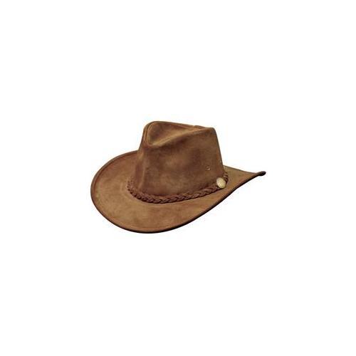 Henschel 1159-81M Suede Crushable Weekend Walker Cowhide Leather Cowboy Hat, Brown, Medium