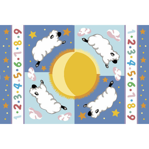 Fun Rugs Olive Kids Sleepy Sheep Baby Area Rug