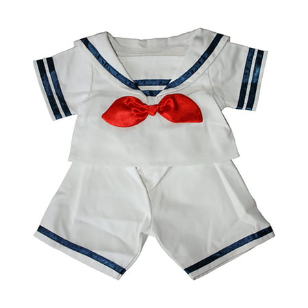 """Sailor Boy w/Hat Outfit Teddy Bear Clothes Fits Most 14"""" - 18"""" Build-A-Bear and Make Your Own Stuffed Animals"""