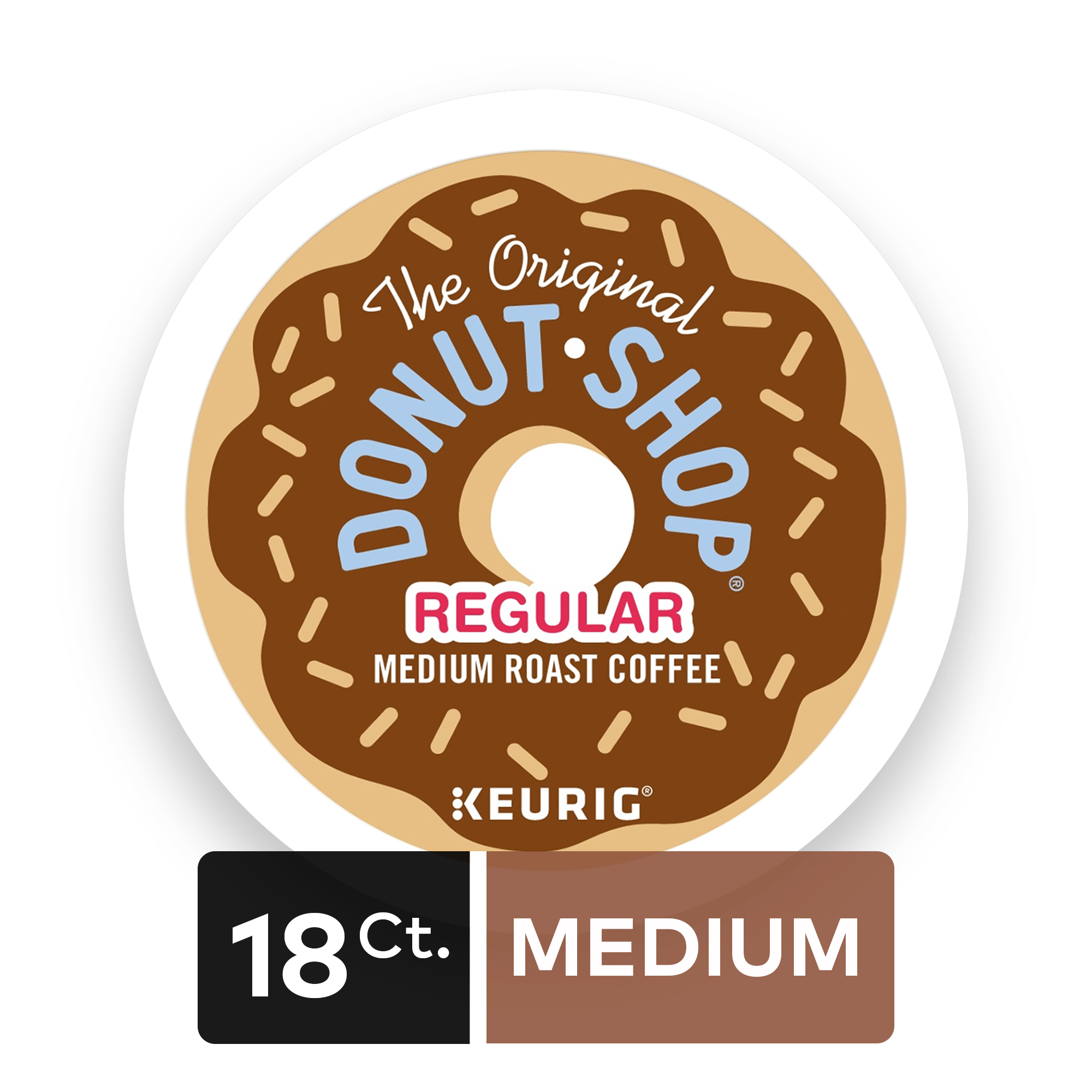 The Original Donut Shop Regular Keurig Single-Serve K-Cup Pods, Medium Roast Coffee, 18 Count