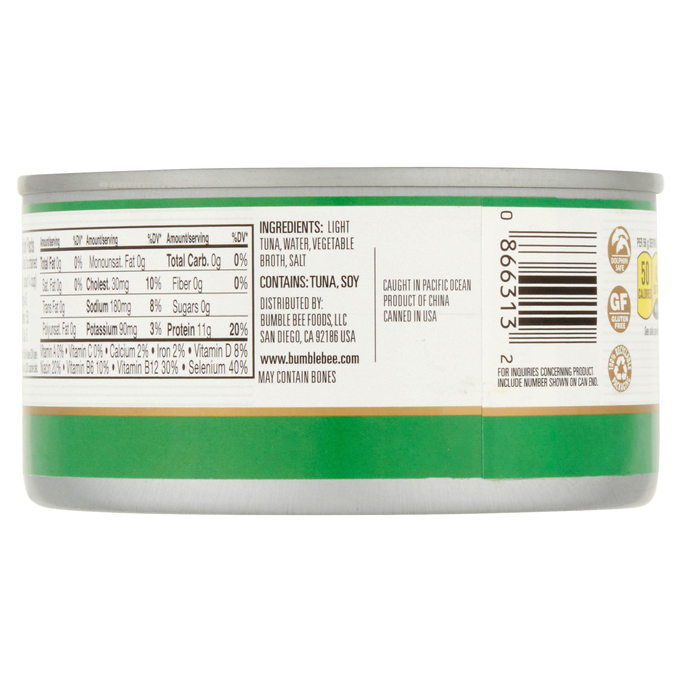 Bumble Bee Chunk Light Tuna in Water, 12 oz Can (4 Packs) - Walmart.com