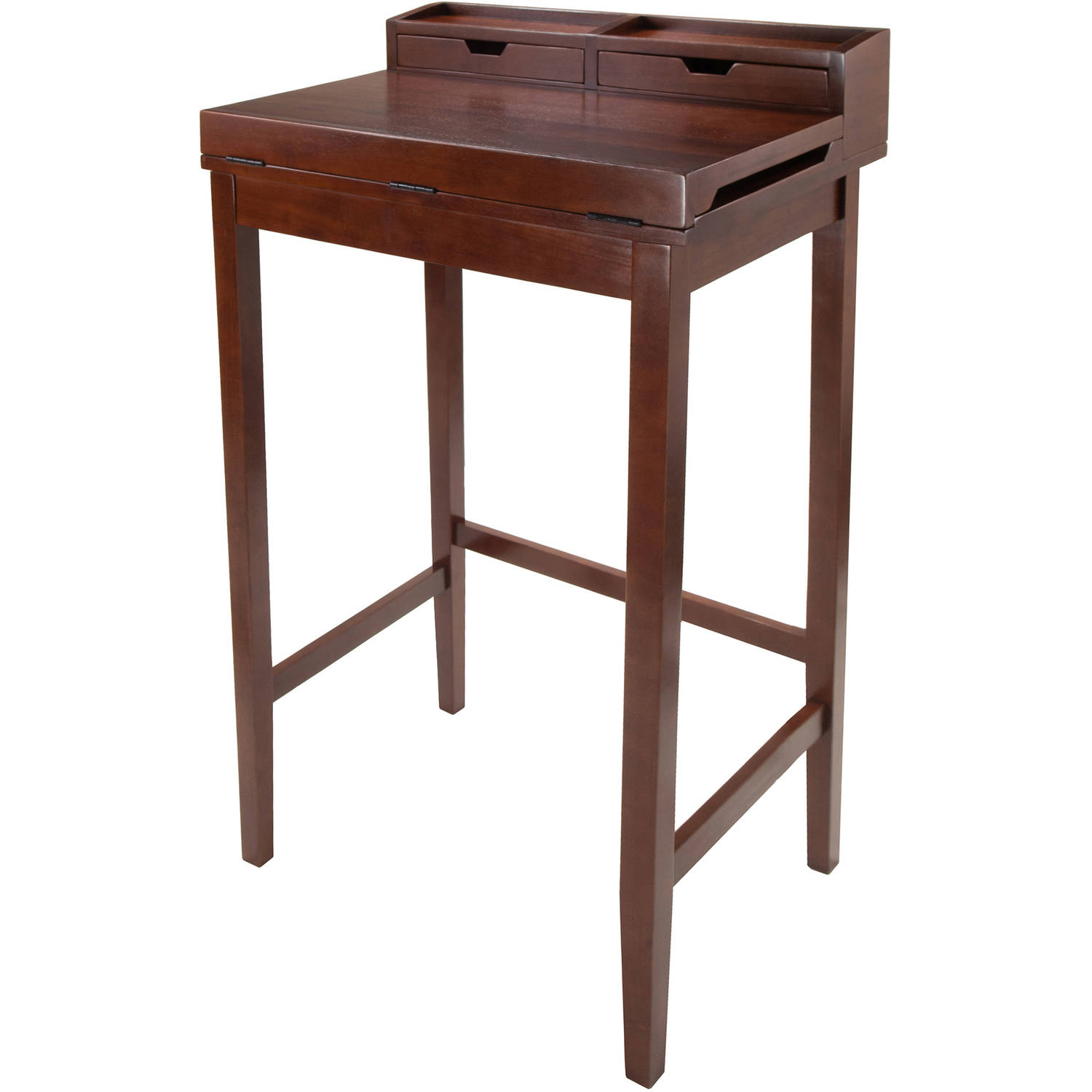 Winsome Wood Brighton Ergonomic High Desk, Walnut Finish