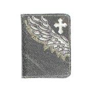 Nocona Western Wallet Mens Leather Bifold Cross Wings Black N5471201