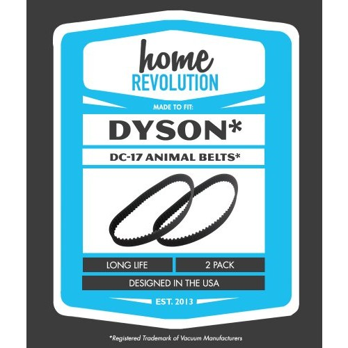 Dyson DC17 Home Revolution Brand Replacement Belts 2PK; Made To Fit Dyson DC17 and DC17 Animal Vacuum Cleaner Models; Compare to Part # 91171001