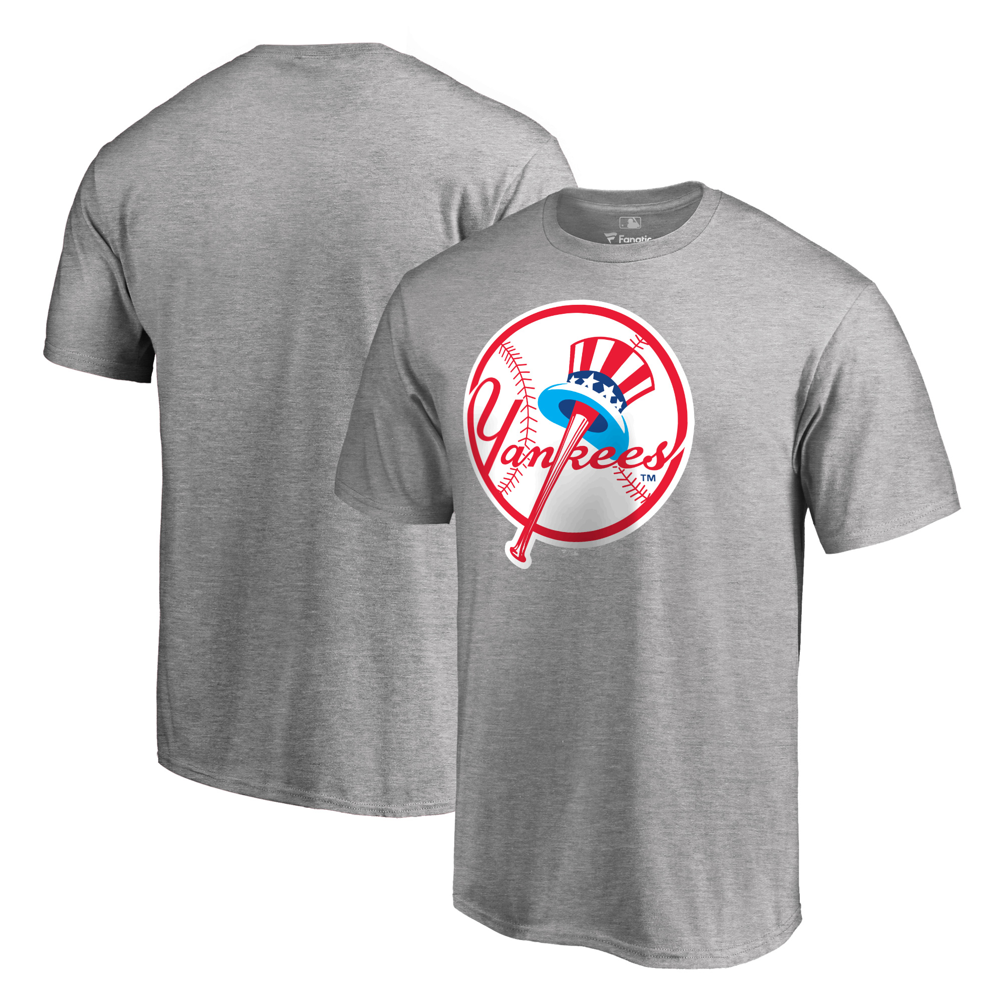 New York Yankees Fanatics Branded Cooperstown Collection Forbes T-Shirt - Heathered Gray