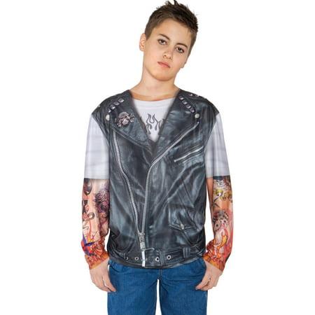 Biker Shirt Boys Child Halloween Costume, One Size, M (6-8)