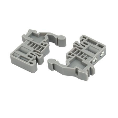 50pcs 35mm DIN Rail Mount Guide Support Fixing Terminal Block
