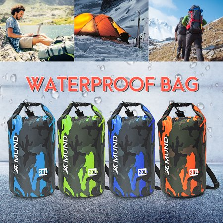 0f05868f67 20L Sports Waterproof Dry Bag Backpack Pouch Floating Boating Kayaking  Camping - Walmart.com
