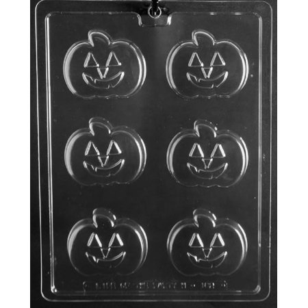 Grandmama's Goodies H182 Pumpkin Shape Cookie Halloween Chocolate Candy Soap Mold with Exclusive Molding Instructions