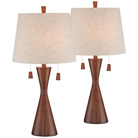 360 Lighting Mid Century Modern Table Lamps Set Of 2 Brown