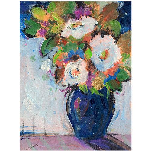 """Trademark Art """"Blue Tones"""" Canvas Art by Sheila Golden"""
