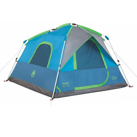 Coleman 4 Person 8'x7' Family Camping Instant Cabin Tent w/ WeatherTec &