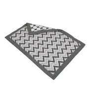 Bacati - MixNMatch 100% Cotton Percale Shell Comforter, Zigzag/Dots Grey
