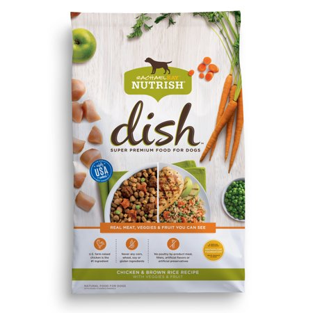 Rachael Ray Nutrish DISH Natural Dry Dog Food, Chicken & Brown Rice Recipe with Veggies & Fruit, 3.75 lbs for $<!---->