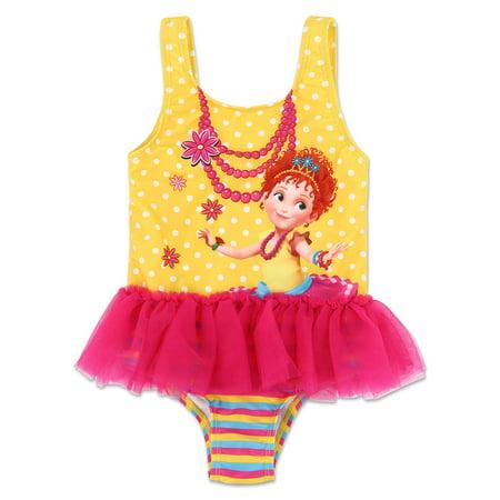 1b0ecd0c92 Disney Fancy Nancy Toddler Girls' One Piece TuTu Swimsuit - Pink/Yellow