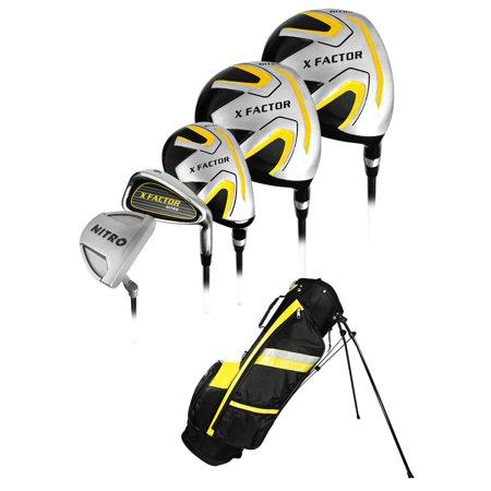 Nitro Golf  X Factor 13 Piece Complete Set With Bag Graphite Steel