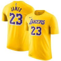 Nike Men's Los Angeles Lakers LeBron James Dri-FIT Gold T-Shirt