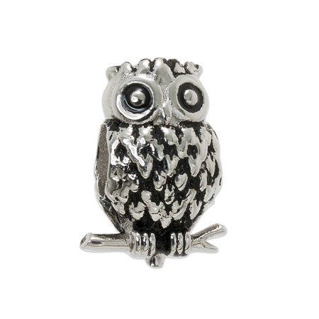 Stainless Steel Owl Charm