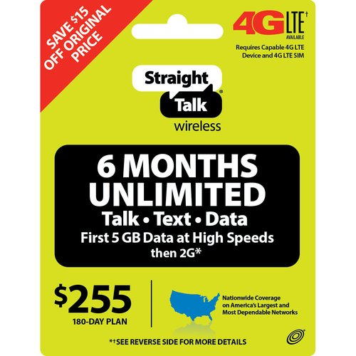 Straight Talk Unlimited 180day