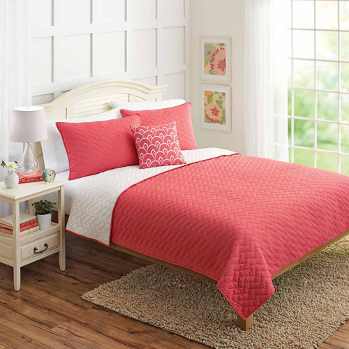 Better Homes and Gardens 4pc Solid Full Queen Quilt Set