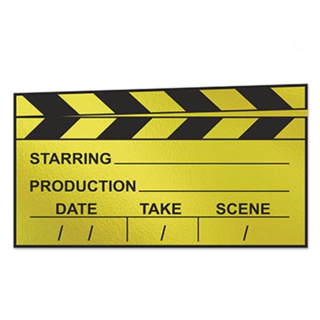 Movie Cutouts (Club Pack of 24 Movie Set Clapboard Cutout Party Decorations)