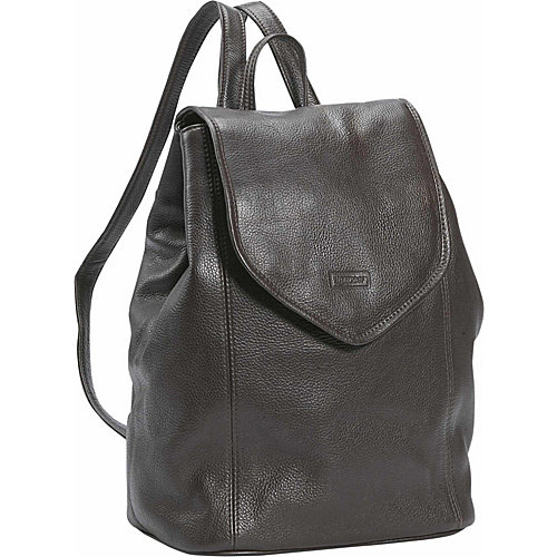 Small Leather Backpack in Dark Chocolate (Black)