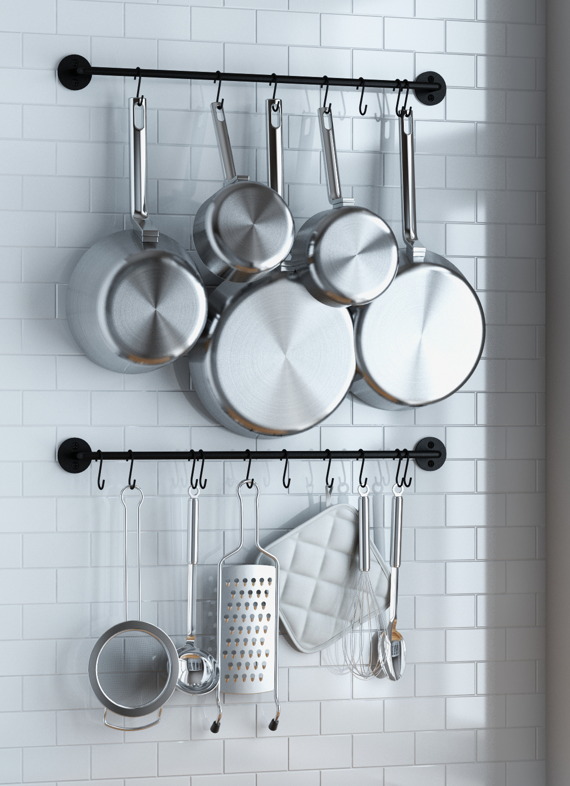 Kitchen Utensil Rack Wall Mounted - Home Design Ideas and Pictures