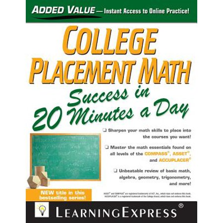 College Placement Math Success in 20 Minutes a Day - eBook (Last Minute Halloween Ideas College)