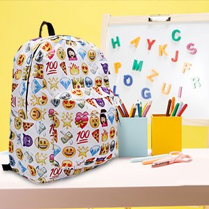 Fashion Emoji Backpack School Bag Travel Backpack Emoji Shoulders School Book Bag Rucksack for Women Kids Girls