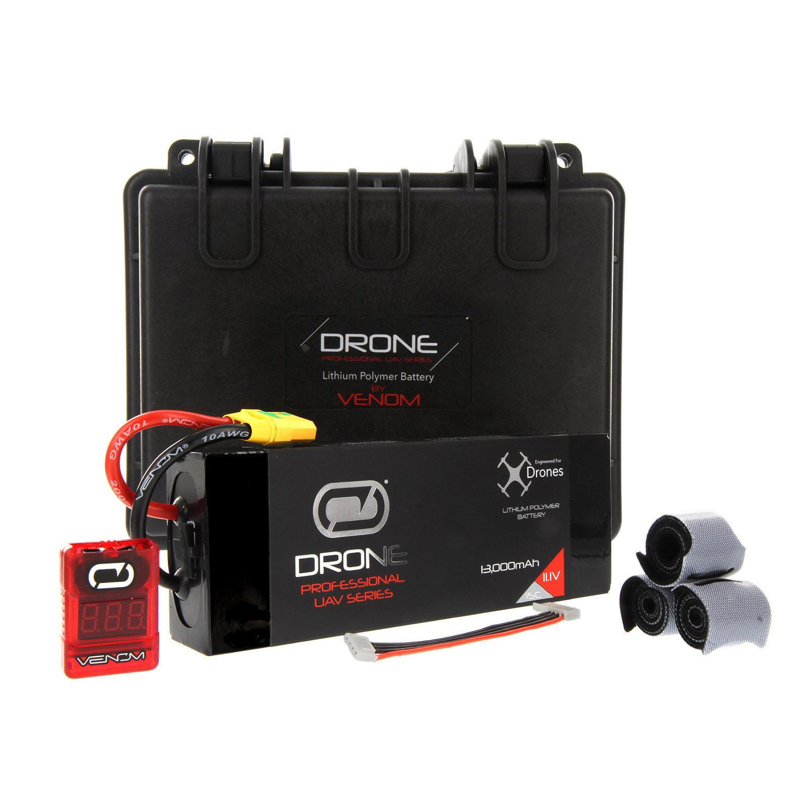 VENOM 13000mAh 3S 11.1V Drone Professional High Capacity Battery, 15C LiPo with XT90-S Plug