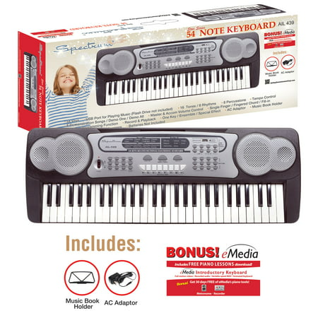 Spectrum AIL 439 54 Note Electric Keyboard (Musical Note Cutouts)