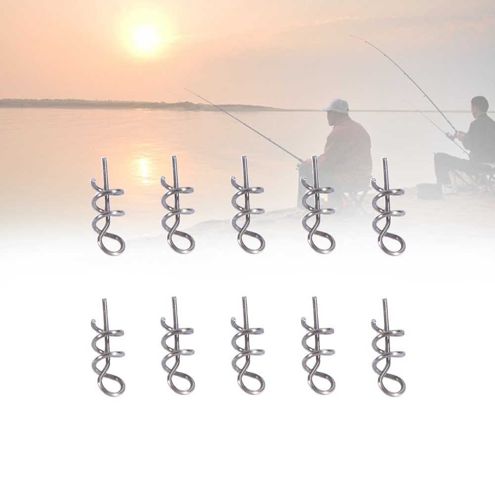 100PCS Bag 14mm Stainless Steel Soft Bait Pin Lure Fishing Spring Fixed Lock Fishing Accessory , Bait Spring Pin, Lure... by