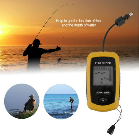 - High Performance 100m Depth Fish Finder Detector Portable River Lake Sea Sonar Fishing Sensor Alarm Transducer Fishfinder