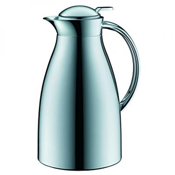 alfi Glass Vacuum Chrome Plated Metal Thermal Carafe for Hot and Cold Beverages, 1.0 L, Chrome by