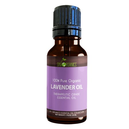 Best Lavender Essential Oil By Sky Organics 100  Organic  Pure Therapeutic French Lavender Oil For Diffuser  Aromatherapy  Headache  Pain  Meditation  Anxiety  Sleep Perfect For Candles   Massage 1Oz