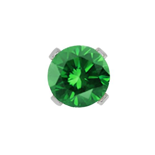 0.27 Ct Round Green Diamond 10K White Gold 4-prong Single Stud Earring 4mm