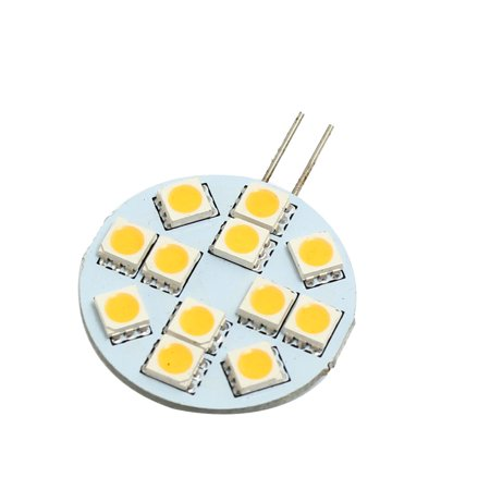 Marine Boat G4 Bi Pin Warm White 5050 SMD 12  Dome Light Bulb (T1 Bi Pin)
