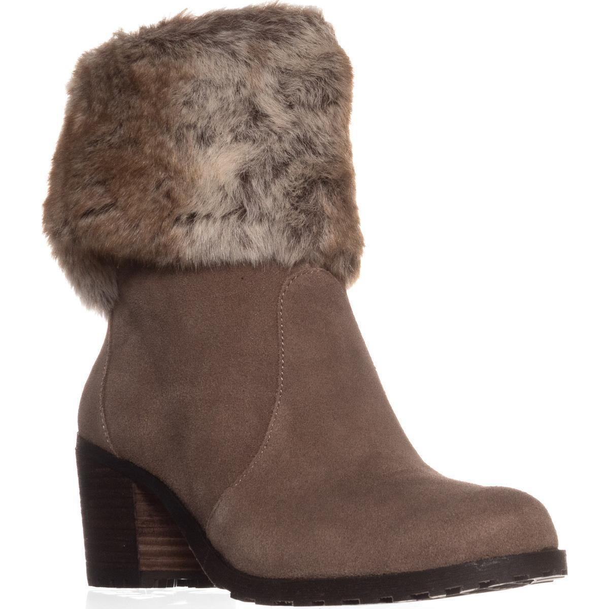Womens Aerosoles Incognito Faux Fur Cuff Winter Ankle Boots, Taupe by Aerosoles