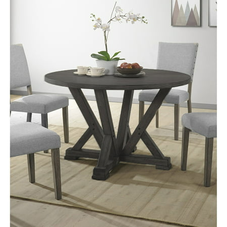 Best Master Furniture Anna Antique Grey Round Dining Table (The Best Dining Tables)